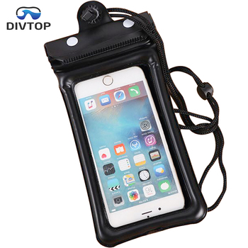Divtop Universal PVC Cover Dry Bag Waterproof Cell Phone Case for Swimming