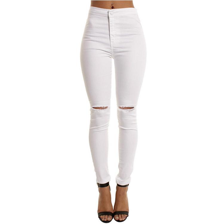 Pantalones Vaqueros Rotos Para Mujer Ajustados De Vaqueros Cintura Alta Color Blanco 2020 Buy Jeans De Mujer Vaqueros Rasgados Pantalones Vaqueros De Color Blanco Solidos Product On Alibaba Com