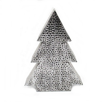 Direct Factory Vintage Metal Galvanized Pine Mini Christmas Tree Tabletop Decor for Christmas Holiday Decoration