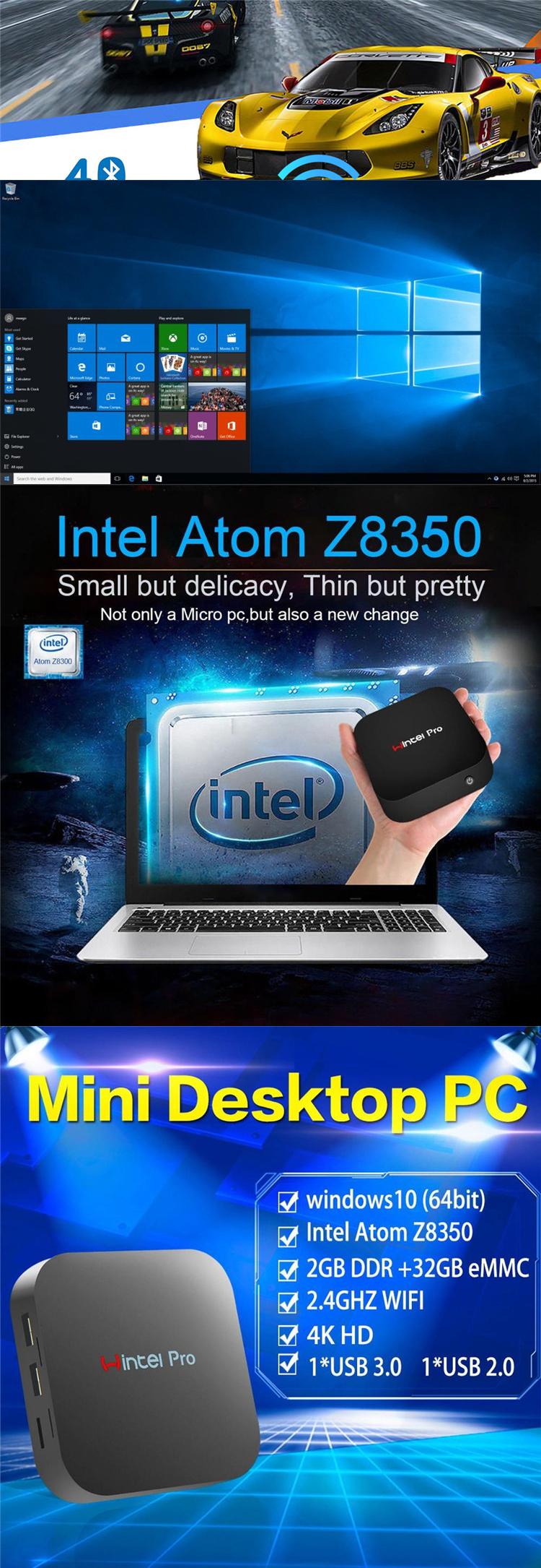 w8 pro x5-z8350 computer barebone mini pc intel desktop windows10 computadores portatil gamer mini pc case