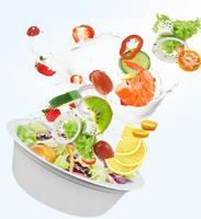 Take away disposal paper bowl for salad and soup
