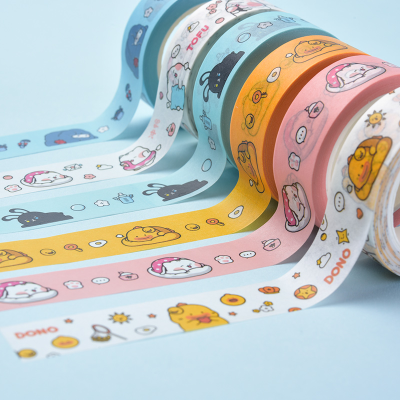 Professional manufacturer provide quality lovely cartoon style adhesive tape packing tape safety tape