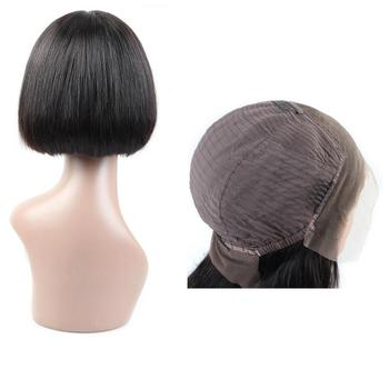 wholesale high quality ready made blunt cut bob lace front wigs for kids