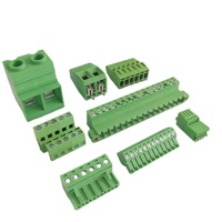 Screw 3.81mm 5.0mm 5.08mm Pitch PCB Terminal Block Connector Angle Pin Green Color Pluggable Type