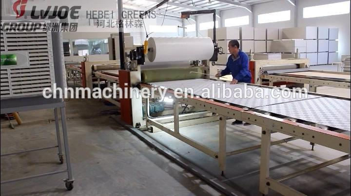 small manufacturing ideas gypsum ceiling board lamination machine production line plant