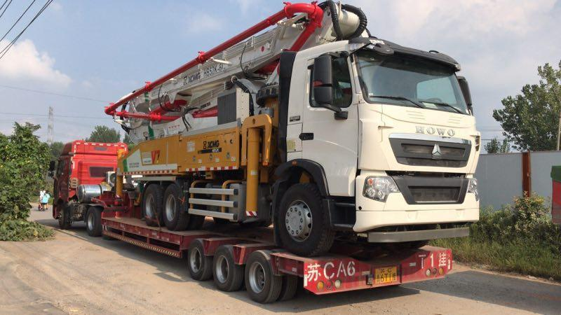 Factory Supply Hb56 56M Eruo Iii Wheel Concrete Pumping Machine For Sale