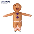 Cheap Price Inflatable Gingerbread Man Mascot Christmas Costume For Adult