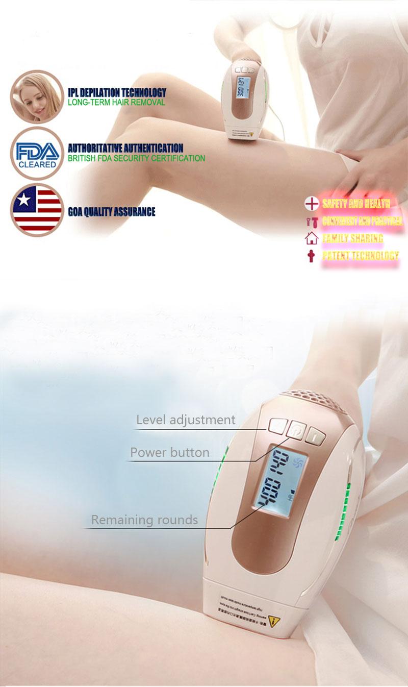 Private Label Mini Portátil Rosto Removedor Do Cabelo Do Ipl/Ipl Máquina de Depilação A Laser