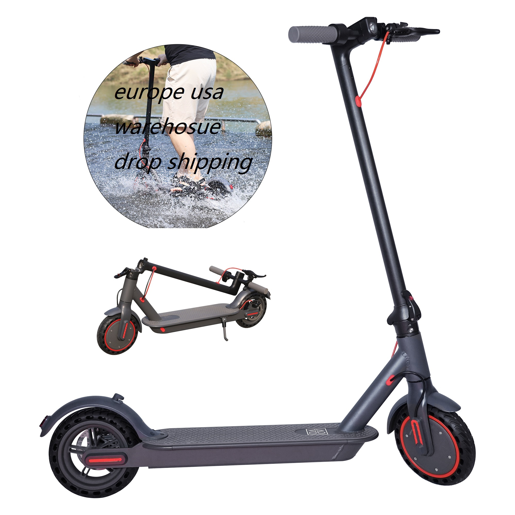 Aovopro Europe Warehouse Drop Shipping Folding Mobility 350w 365 Pro 10.5Ah Battery 2 Wheels Adult Electric Scooter