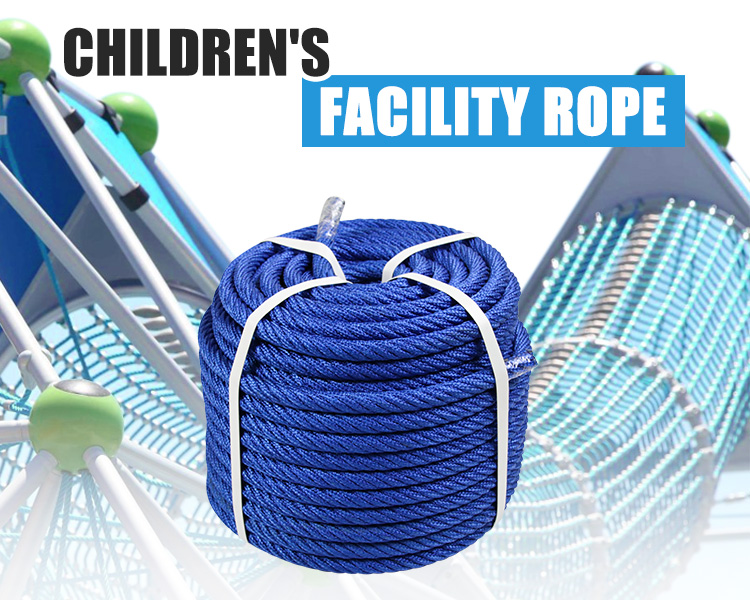 16mm 6-strand steel wire inner core recreation woven rope for children's climbing net