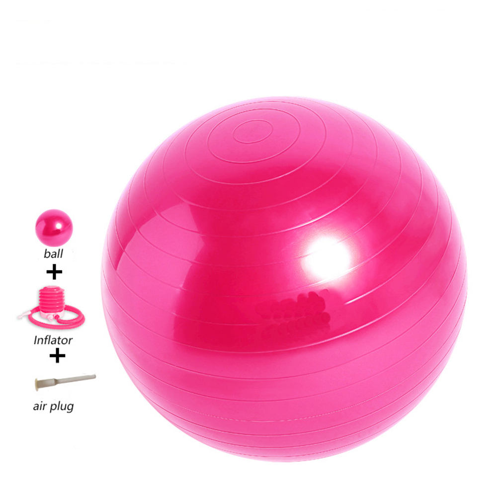65cm pink grey pvc anti-burst durable exercise balance pilates <strong>yoga</strong> <strong>ball</strong>