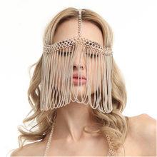 WKOUD EAM Женская винтажная металлическая простая ручная работа с кисточками, сексуальная Очаровательная Ювелирная маска 2020, новые женские акс...(Китай)