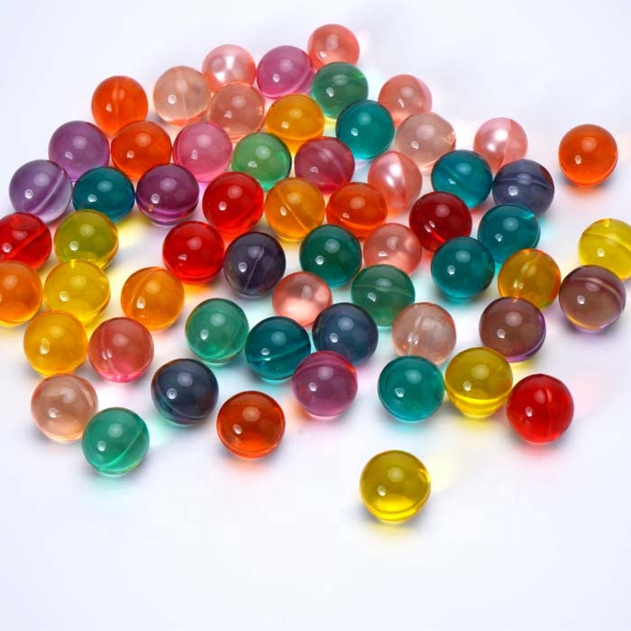 Colorful scented round ball bath oil beads