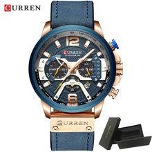Мужские часы Curren 2019 Топ бренд класса люкс Хронограф КОЖА мужские часы водонепроницаемые мужские часы relogio masculino reloj hombre 2019(Китай)