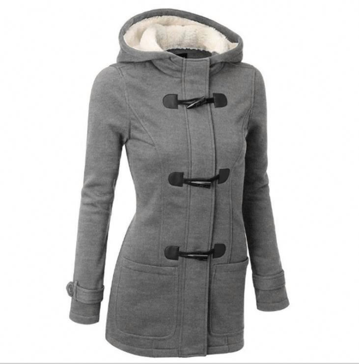 Plus Size <strong>Winter</strong> Jacket Women Hooded <strong>Winter</strong> <strong>Coat</strong> <strong>Fashion</strong> Autumn Women Parka Horn Button <strong>Coats</strong>