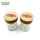 Custom Beech Wooden Cap With Logo Or Storage Jar For Glass Candle Lid