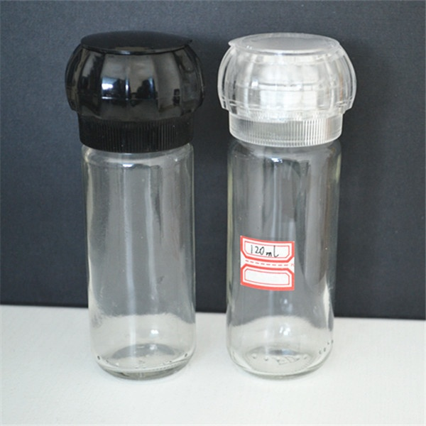 pepper and spice grinder glass bottle /salt mill/pepper shaker