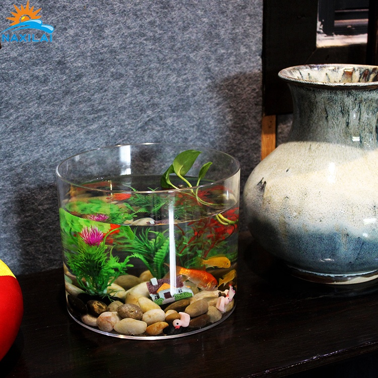 NAXILAI cylinder aquarium of acrylic <strong>fish</strong> tank