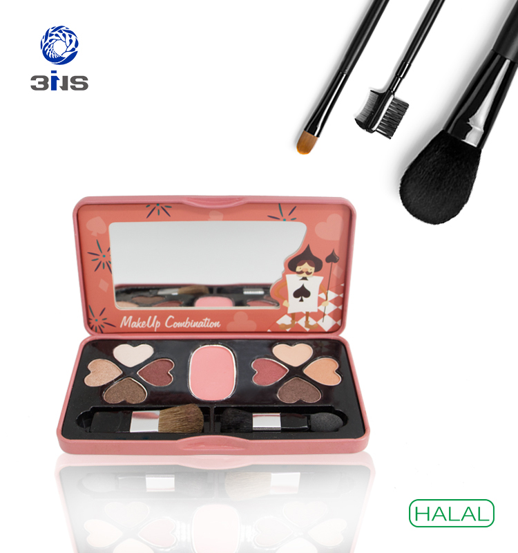 OEM/ODM HALAL 3ins Free sample Multi-Color private label eyeshadow palette packaging makeup make-up tin box