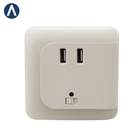 Switch US kids EU warm white LED charging port indoor night light charger children lights to bedroom wall plug with USB