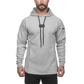 Custom logo fashion style new arrival men oversized grey hoodie