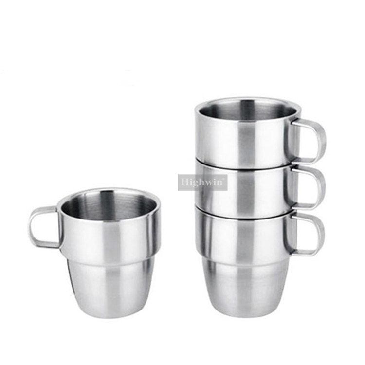 Highwin Factory Wholesale Double Wall Stainless Steel Custom Reusaulbe Coffee Cupp