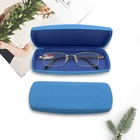 Wholesale hard shell leather metal custom glasses case for children