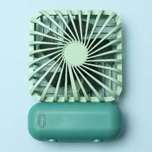 1 комплект мини-вентиляторов, Usb перезаряжаемый портативный студенческий вентилятор с аккумулятором, ручной бесшумный многоцветный креати...(Китай)