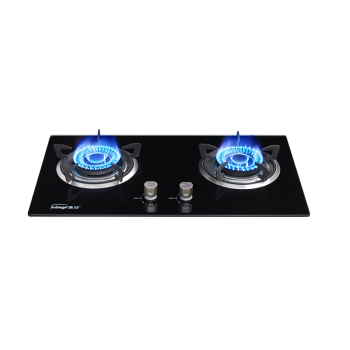 Built-in 2 burners gas stove/cooking gas cooktop/tempered glass gas hob