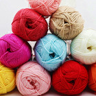 Recycled [ Yarn ] Cotton Manufacturer Yarn Big Sale High Quality Dyed Baboo Cotton Crochet Baby Milk Yarn For Knitting Sweater
