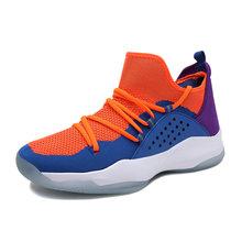 Новинка 2020, женская Баскетбольная обувь, мужская спортивная обувь с высоким берцем, дышащие баскетбольные кроссовки, светильник, Нескользя...(Китай)