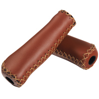 Classic Bike Grips Retro Bicycle Handlebar Bicycle Really Brown Leather Grips Bicycle