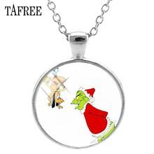 TAFREE рождественские тематические ожерелья как grinch украли ожерелье себе кулон ювелирные изделия подарок XM01(Китай)