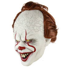 Het Pennywise De Dancing Clown Halloween Scary Evil <span class=keywords><strong>Masker</strong></span> One Size <span class=keywords><strong>Latex</strong></span> Rood Haar