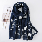 Yiwu Chanlian Most popular Latest Design hijab women Embroidered with flowers muslim hijab