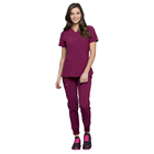 Women's scrubs uniforms blue nursing scrubs uniforms