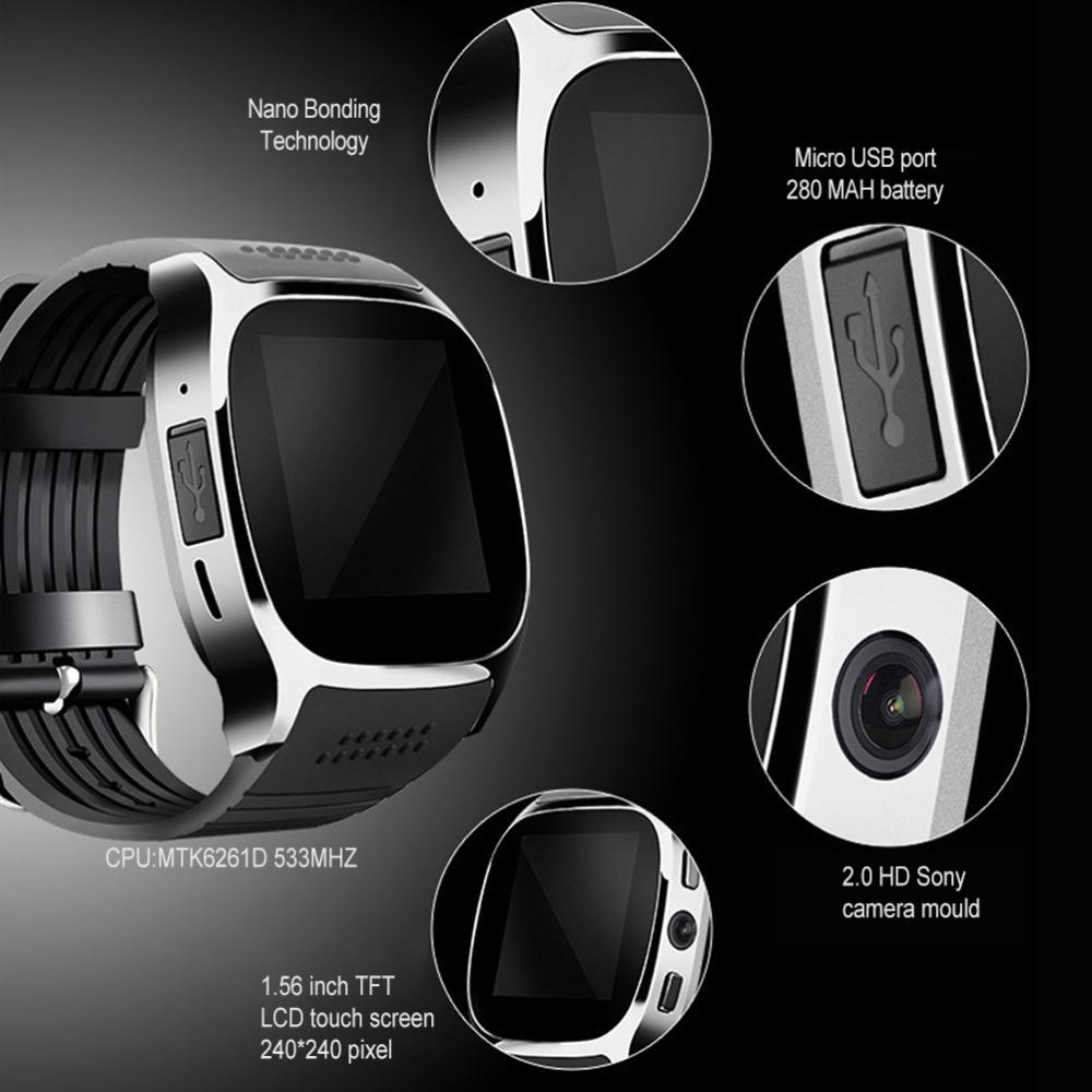 カメラ付き工場格安スマートウォッチt8 simカード、dz09 a1 u8 t8スマートウォッチ