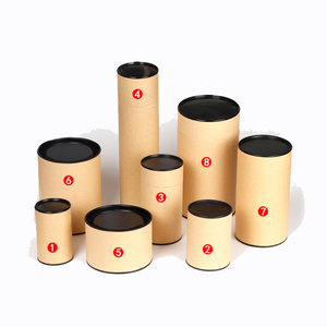 Factory cheap price coated round cylinder kraft paper box brown kraft pillow boxes brown kraft paper folding box