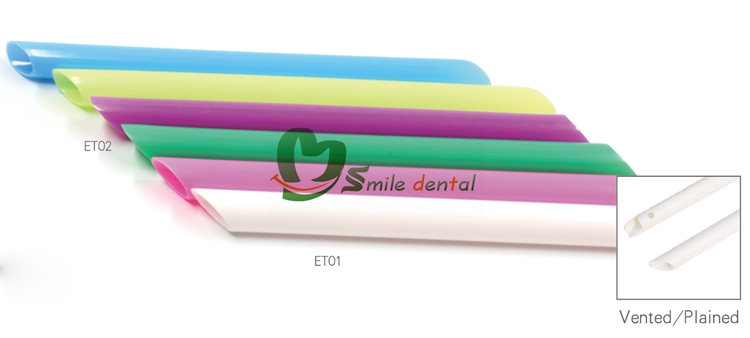 Disposable dental evacuation tips saliva ejector