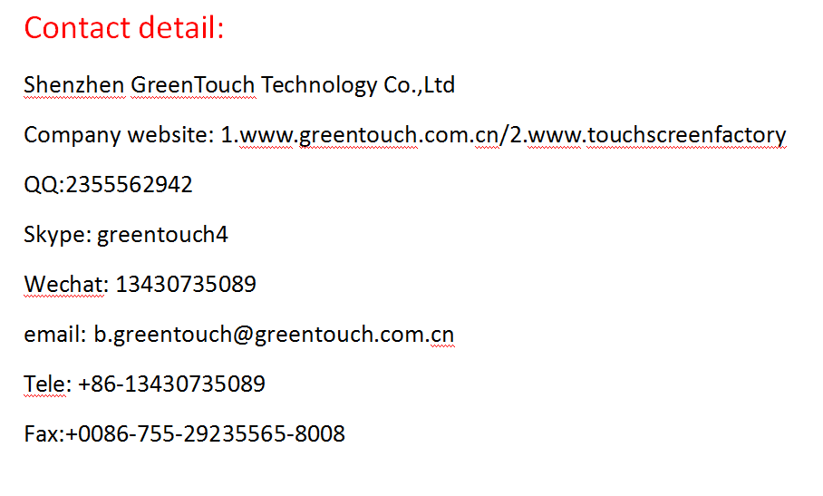 75,85,98, inch ir touch frame for public query machine