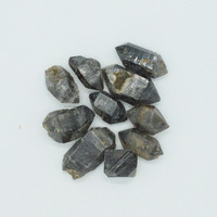 Natural Raw Rough Black specter Quartz Crystal Double Points Herkimer Diamonds for Ring Making