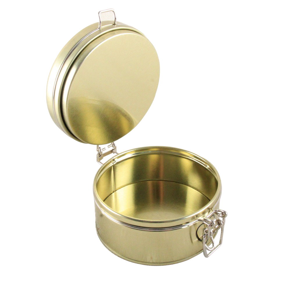 Customized Food Grade Packaging tea can Small Metal Round Tin Box