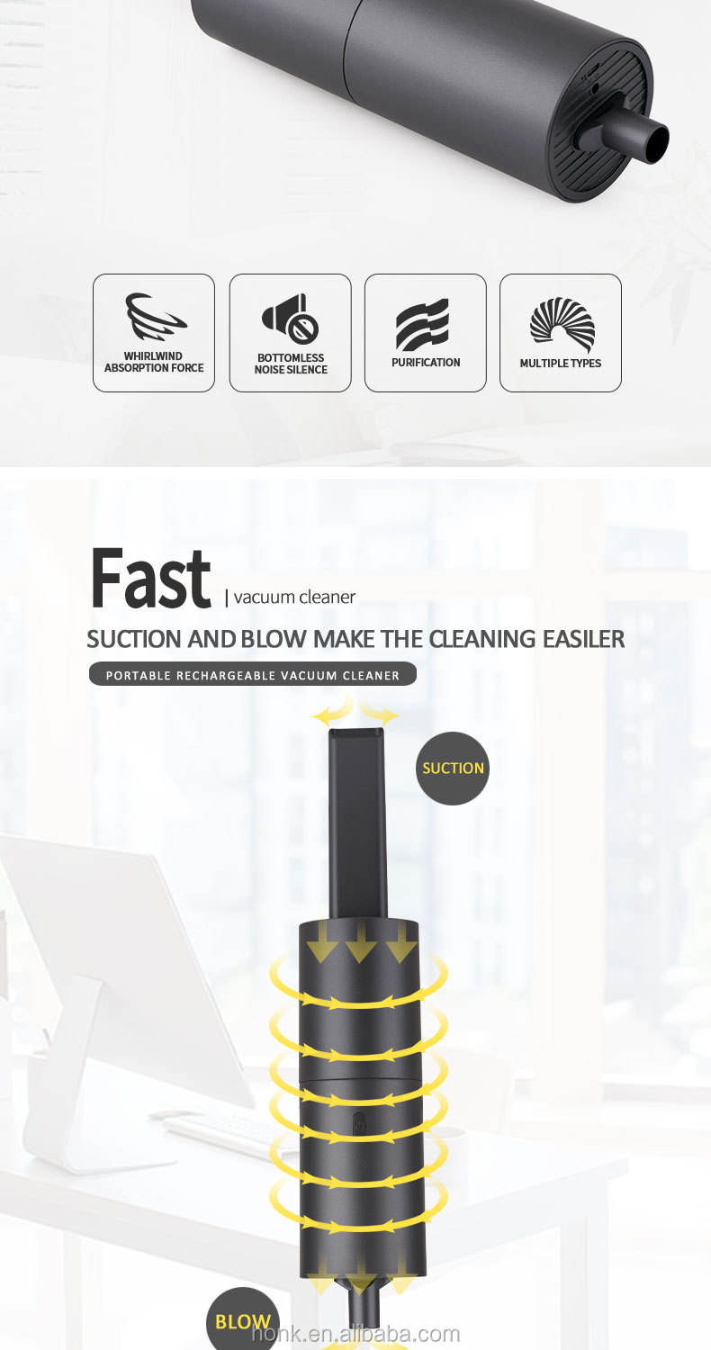 Wholesale Rechargeable battery portable USB keyboard  mini vaccum cleaner for laptop desktop PC