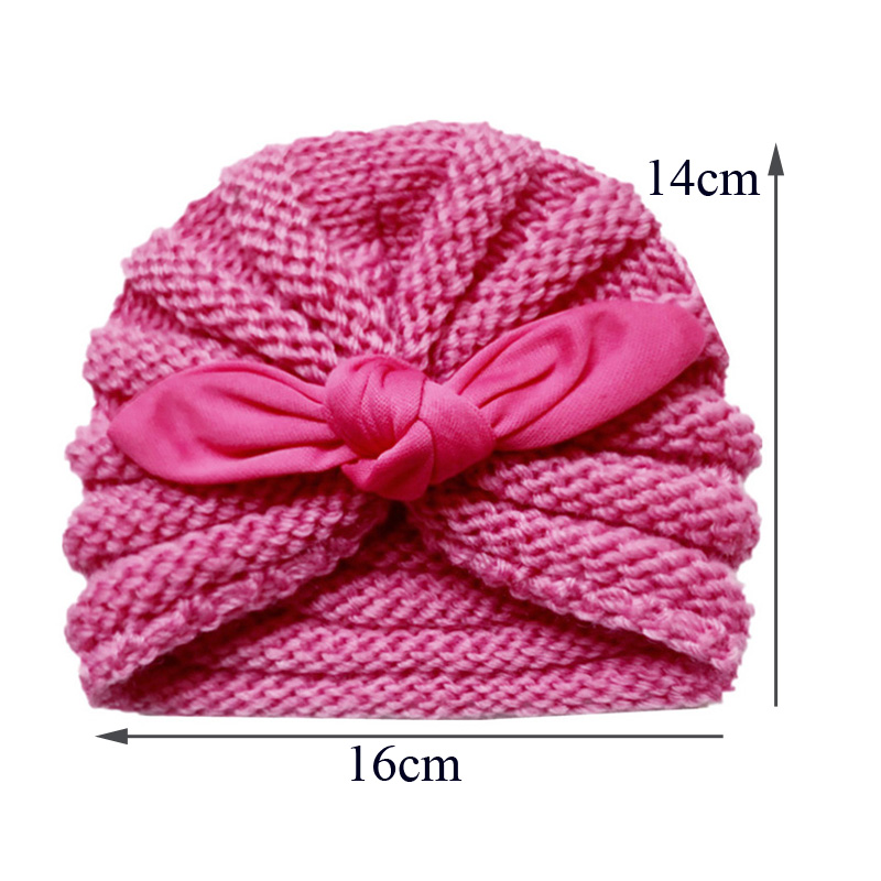 Knitted Winter Baby Hat for Girls Candy Color Bonnet Infant Baby Beanie Turban Hats Newborn Baby Cap for Boys Accessories