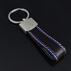 Best Selling New Product car keychain leather ,Alloy High Quality Metal Genuine black leather keychain custom logo