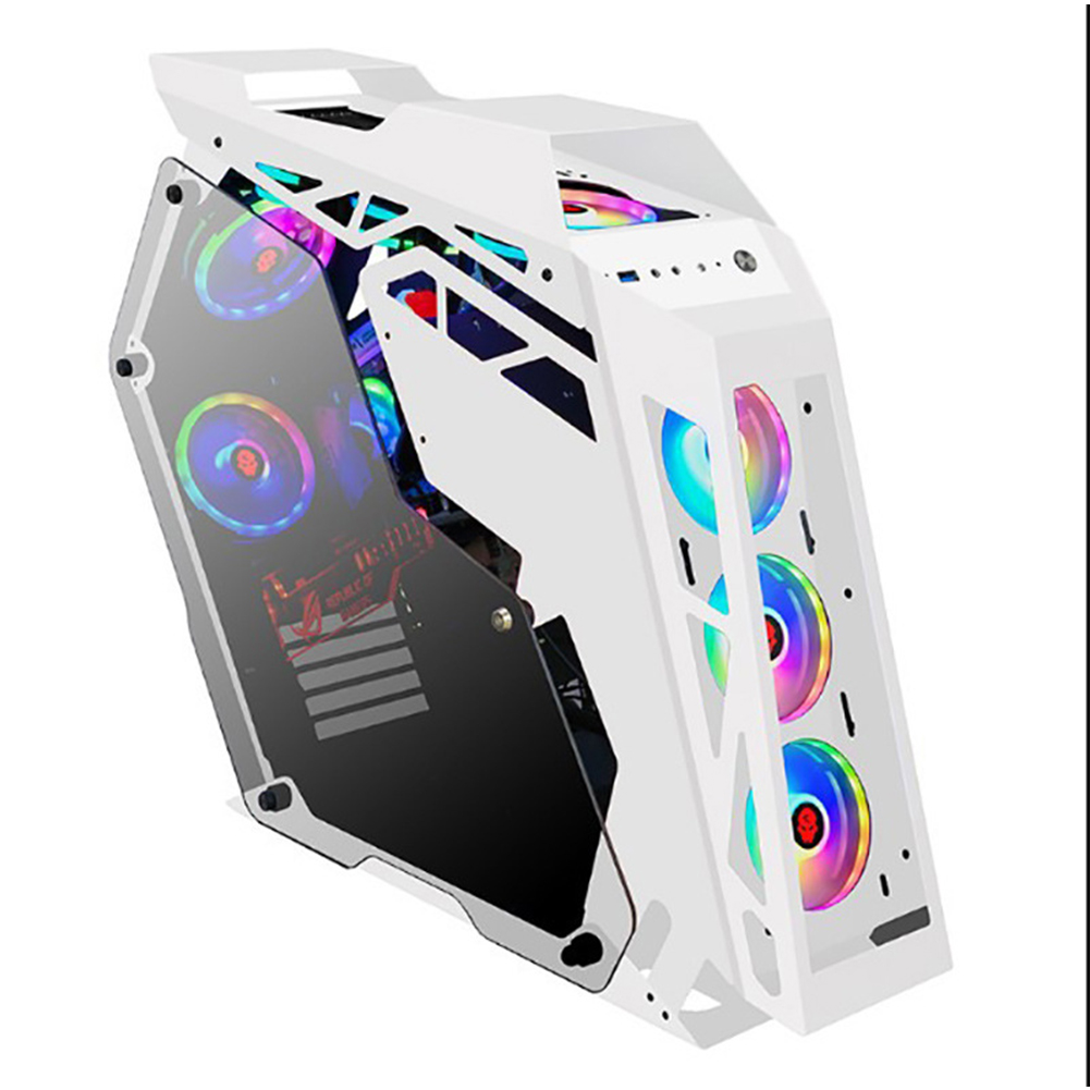 Hot sales Tempered Cool, Modern Special Desktop PC Gaming Computer Case for Internet cafes Bar E-sport/