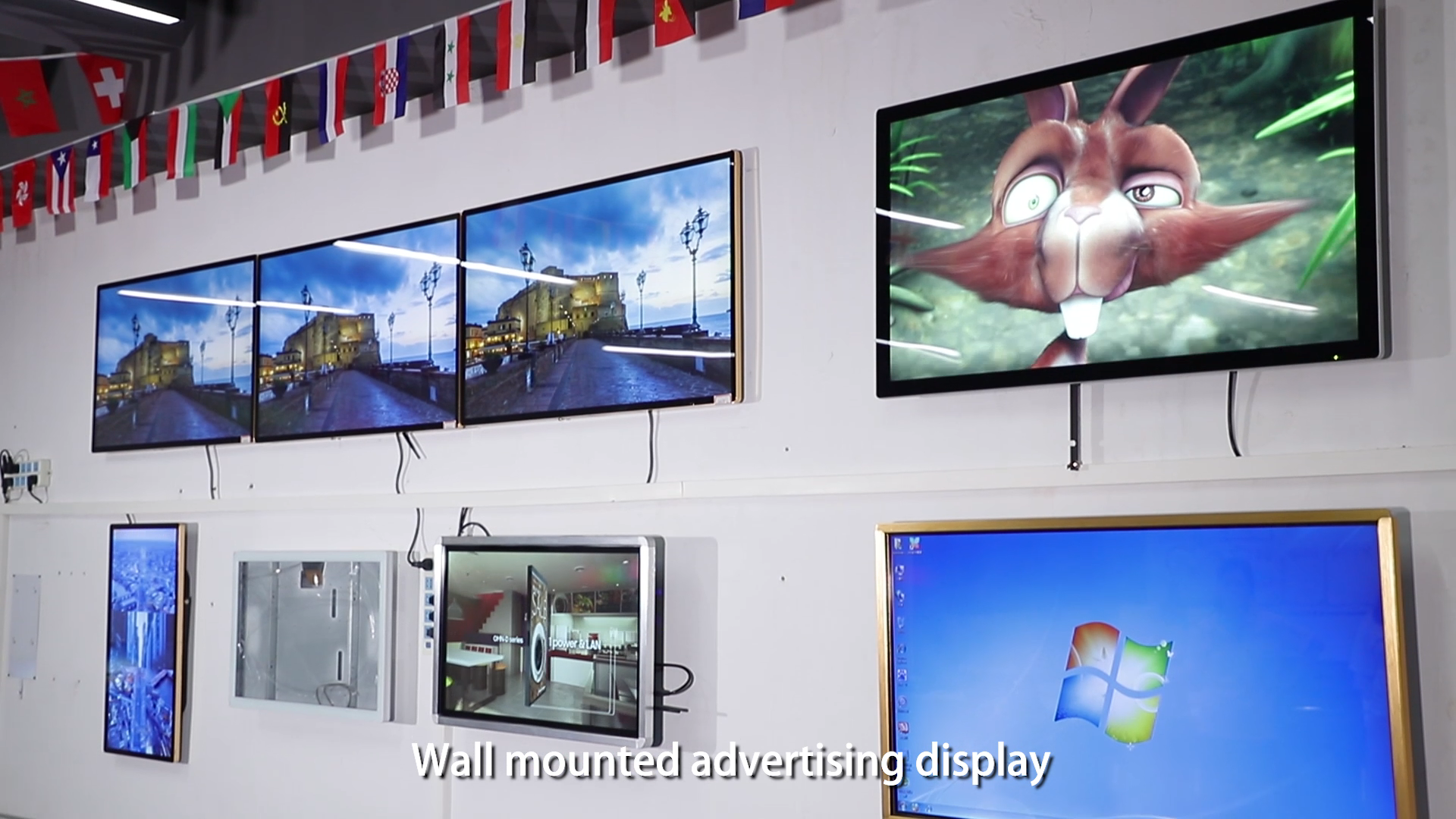 7 to 32 inch lcd wall mounted digital small advertising player indoor advertising signage monitor screen for advertising
