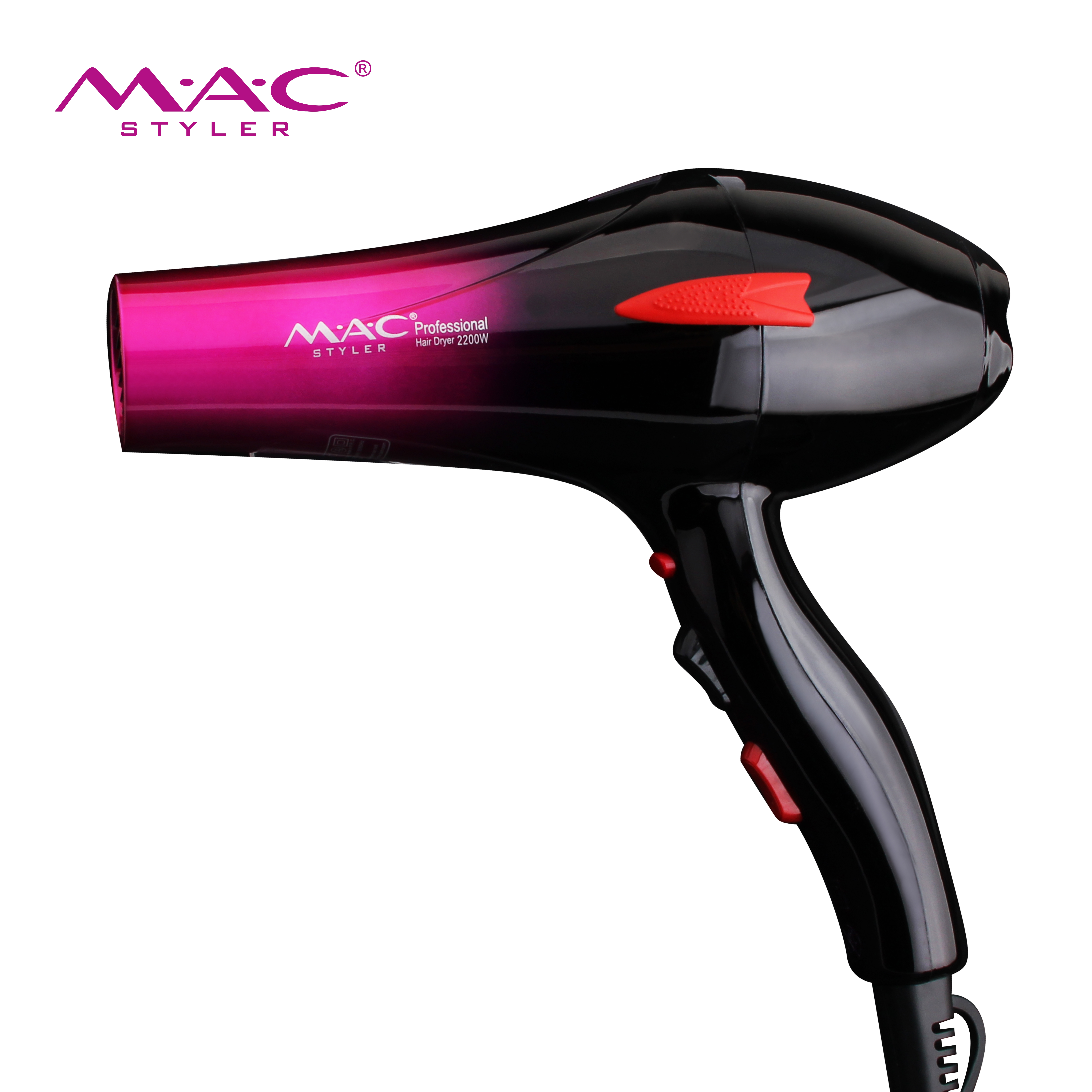 New style AC motor hair dryer A gradient ramp professional hair dryer that is on sale