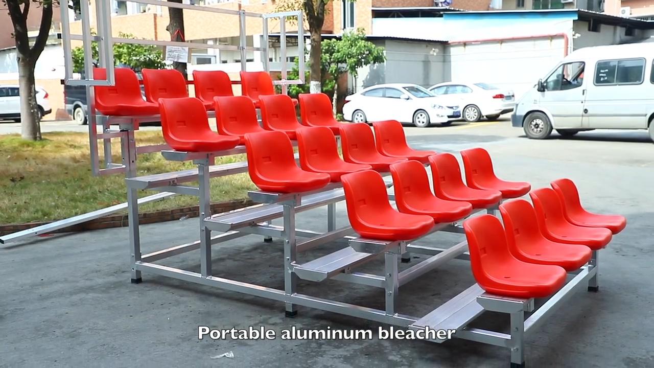German outdoor temporary grandstand demountable bleachers stadium chairs bleacher