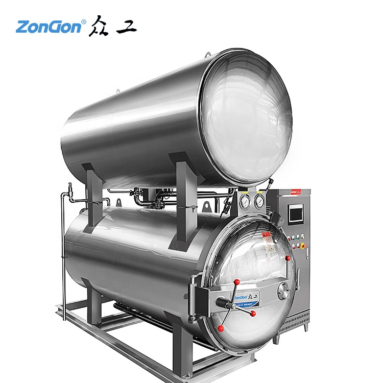 Water immersion retort food autoclave sterilizer for canned food